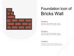 Foundation Icon Of Bricks Wall