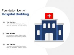Foundation Icon Of Hospital Building