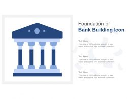 Foundation Of Bank Building Icon