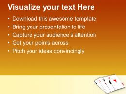 Four Aces Playing Cards Game Powerpoint Templates Ppt Themes And Graphics 0313