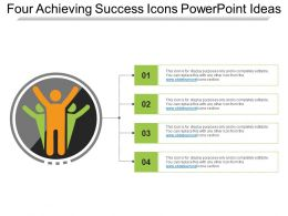 Four Achieving Success Icons Powerpoint Ideas