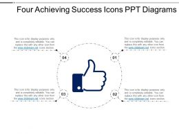 Four Achieving Success Icons Ppt Diagrams