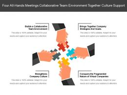 Four All Hands Meetings Collaborative Team Environment Together Culture Support