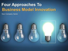 Four Approaches To Business Model Innovation Powerpoint Presentation Slides