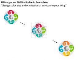 four_arrow_global_circular_chart_flat_powerpoint_design_Slide02