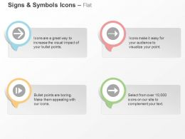Four Arrow Icons Process Flow Ppt Icons Graphics