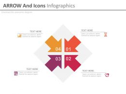 Four Arrows And Icons Infographics Flat Powerpoint Design