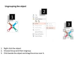 four_arrows_bar_graph_teamwork_target_selection_flat_powerpoint_design_Slide03