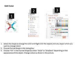 four_arrows_bar_graph_teamwork_target_selection_flat_powerpoint_design_Slide04