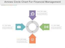 Four Arrows Circle Chart For Financial Management Flat Powerpoint Design
