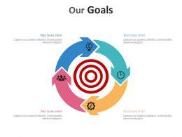 85058160 Style Essentials 2 Our Goals 4 Piece Powerpoint Presentation Diagram Infographic Slide
