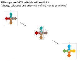 four_arrows_for_business_data_flat_powerpoint_design_Slide02