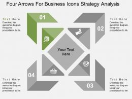 four_arrows_for_business_icons_strategy_analysis_flat_powerpoint_design_Slide02