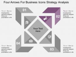 four_arrows_for_business_icons_strategy_analysis_flat_powerpoint_design_Slide03