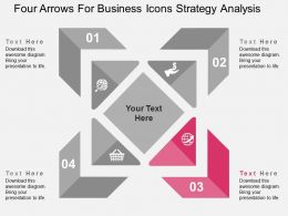 four_arrows_for_business_icons_strategy_analysis_flat_powerpoint_design_Slide04