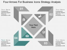 four_arrows_for_business_icons_strategy_analysis_flat_powerpoint_design_Slide05