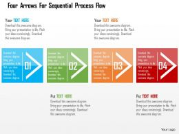 Four Arrows For Sequential Process Flow Flat Powerpoint Design