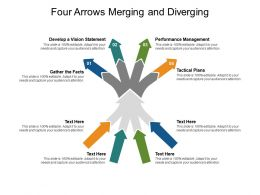 Four Arrows Merging And Diverging
