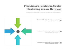 Four Arrows Pointing In Center Illustrating You Are Here Icon