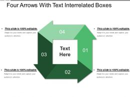 Four Arrows With Text Interrelated Boxes