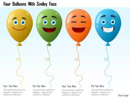 Four Balloons With Smiley Face Powerpoint Template