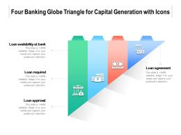 Four Banking Globe Triangle For Capital Generation With Icons