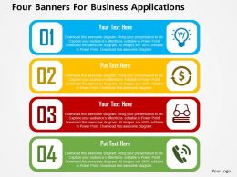 four_banners_for_business_applications_flat_powerpoint_design_Slide01