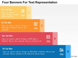 Four Banners For Text Representation Flat Powerpoint Design