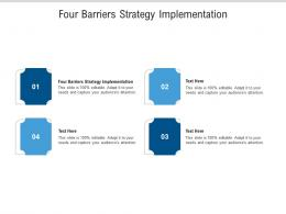 Four Barriers Strategy Implementation Ppt Powerpoint Presentation Outline Good Cpb
