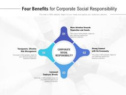 Four Benefits For Corporate Social Responsibility