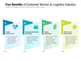 Four Benefits Of Customer Service To Logistics Industry