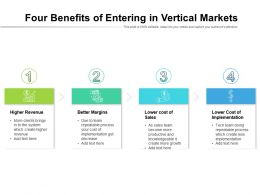 Four Benefits Of Entering In Vertical Markets