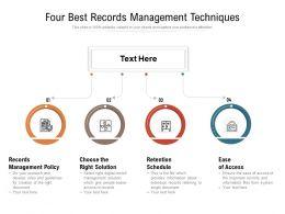 Four Best Records Management Techniques