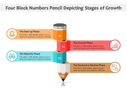 Four Block Numbers Pencil Depicting Stages Of Growth