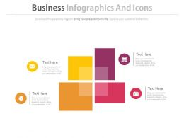 Four Blocks Business Infographics And Icons Flat Powerpoint Design