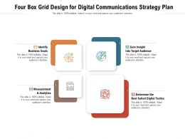 Four Box Grid Design For Digital Communications Strategy Plan