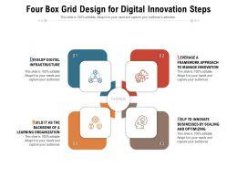 Four Box Grid Design For Digital Innovation Steps