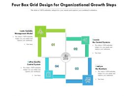 Four Box Grid Design For Organizational Growth Steps