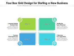 Four Box Grid Design For Starting A New Business