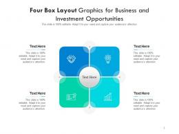 Four Box Layout Graphics For Business And Investment Opportunities Infographic Template
