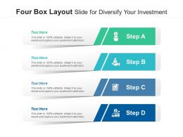 Four Box Layout Slide For Diversify Your Investment Infographic Template