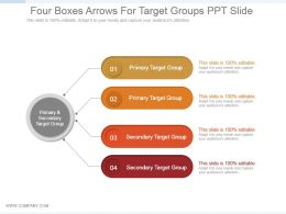 Four Boxes Arrows For Target Groups Ppt Slide
