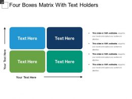 Four Boxes Matrix With Text Holders