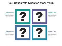 Four Boxes With Question Mark Matrix