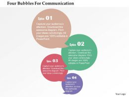 Four Bubbles For Communication Flat Powerpoint Design