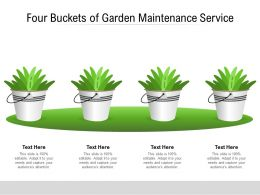 Four Buckets Of Garden Maintenance Service