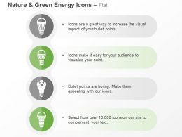 Four Bulb Power Sources Ppt Icons Graphics