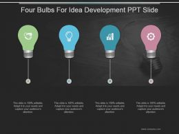 Four Bulbs For Idea Development Ppt Slide