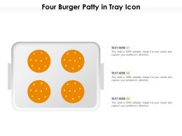 Four Burger Patty In Tray Icon