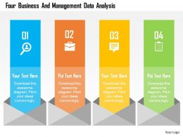 Four Business And Management Data Analysis Flat Powerpoint Design